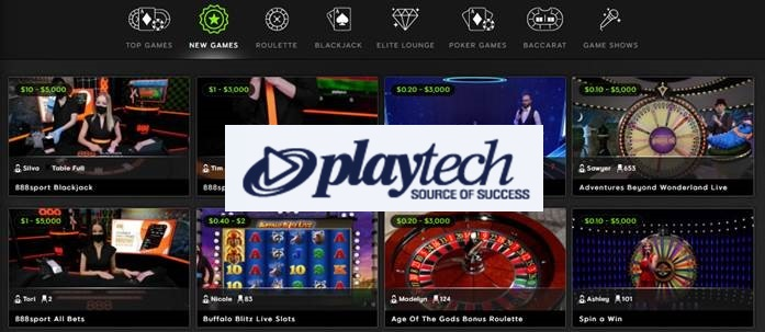Playtech at 888