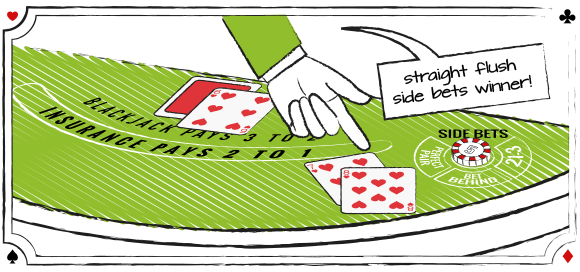 Blackjack side bets: Straight Flush