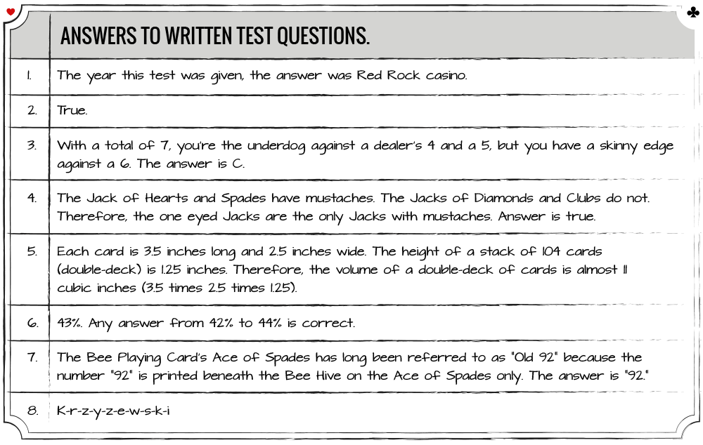 Blackjack Ball Questionaire Answers