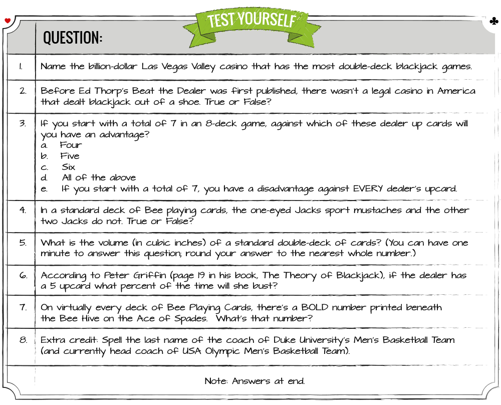 Blackjack Ball Questionaire