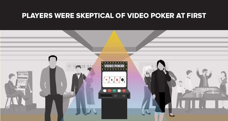 Skeptische Video-Pokerspieler